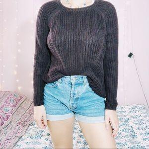 Cozy knit maroon sweater